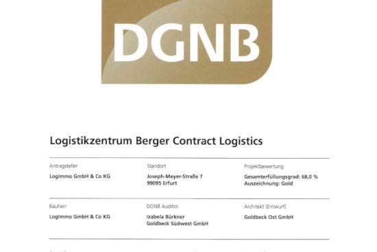 DGNB Zertifikat